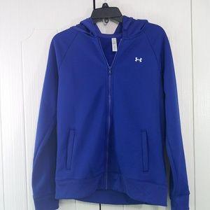 Under Armour Blue Hoodie Sweatshirt Size M